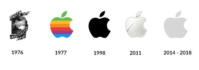 Apple flat design logo